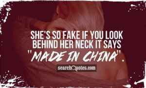 She's so fake if you look behind her neck it says