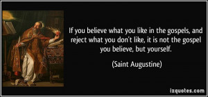 If you believe what you like in the gospels, and reject what you don't ...