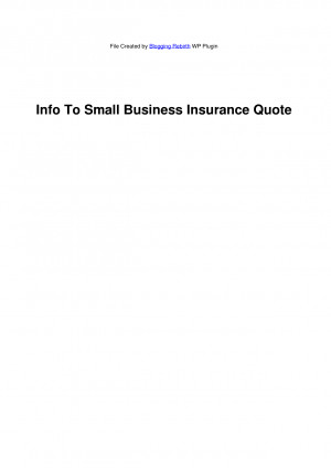 Info To Small Business Insurance Quote - Meaningful Quotes by ...