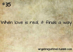 Real love will find a way