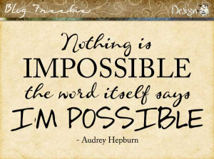 Wednesday SayingZ | I'm Possible