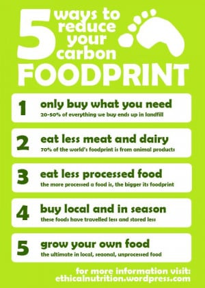 ways to reduce your carbon footprint! From food!