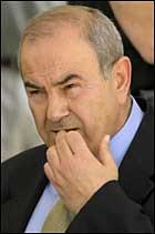 President i den p troppende overgangsregjeringen i irak Iyad Allawi