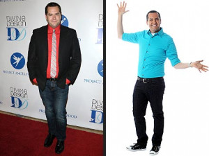 Ross Mathews, before (left) and after