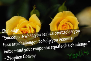 Success Is When You realize obstacles You face are challenges to help ...