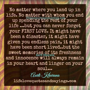 Your First Love..