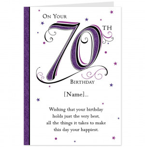 Happy Birthday Grandpa Sayings 70th birthday card-hallmark uk