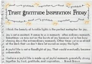 Trust Gratitude Inspiration - Brene Brown