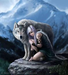 Werewolf Girl ~ Anne stokes...One of the savage girls that grew with ...