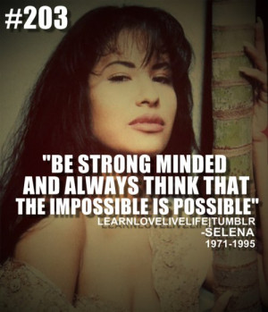 Be strong minded and always think that the impossible is possible ...