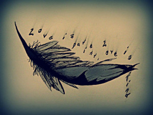 Feather Tattoo Designs with Quotes