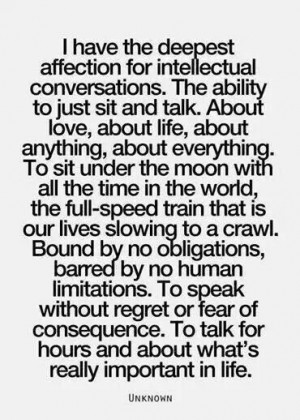 Intellectual conversation