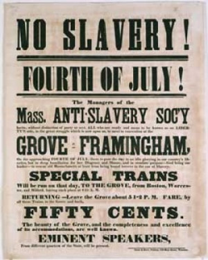 Abolitionist Poster William Lloyd Garrison | Does the Bible Condone ...