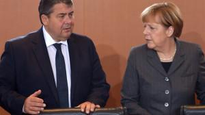 Sigmar Gabriel und Angela Merkel haben zumindest eine Streitfrage in ...