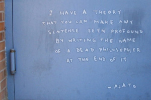 Banksy 'Quotes' Plato In His 8th Work In New York City