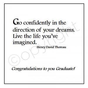 19. Congratulations - Henry David Thoreau Quote