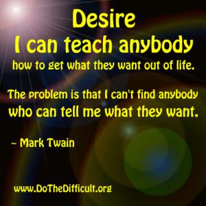 Desire Quote Black