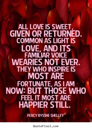 All love is sweet, Given or returned. Common as light is love, And its ...