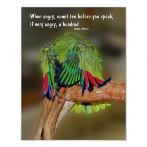 Funny Parrot Anger Quote Inspirational Poster From Zazzle