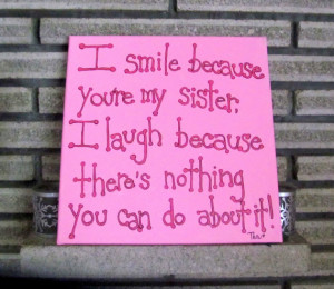 Sister Quotes Canvas Art
