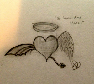 Love And Hate Tattoo Onyxrocks