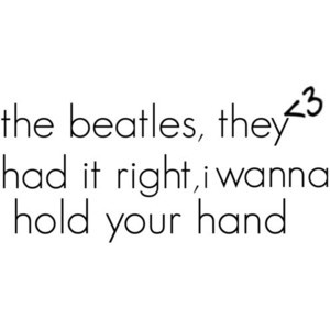 beatles quote, by megan; use! (: