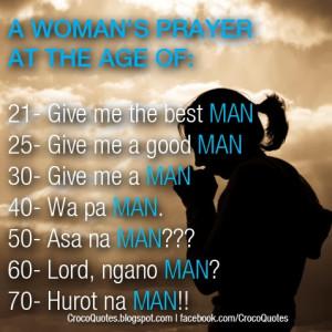 Woman's Prayer For No boyfriend since birth
