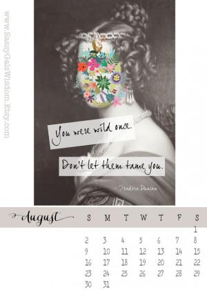 calendar inspirational quotes art print gift idea loose leaf calendar ...