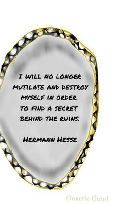 ... sabotage is spiritual sabotage of humanity. Step out of hesitation and