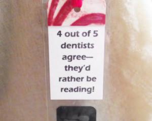 Bookmark Sayings Phrases Unusual Wh imsical Xray Dentist Gift Dental ...