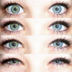 pretty green & blue eyes.