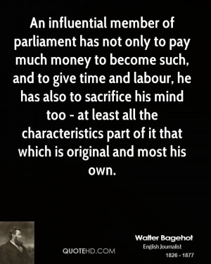 An influential member of parliament has not only to pay much money to ...