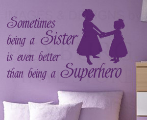 Details about Wall Decal Quote Sticker Vinyl Graphic Sisters are like ...