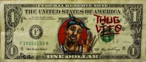 money graffiti #tupac #2pac