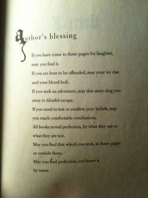 Christopher Moore - Author's Blessing