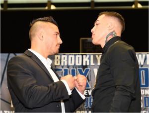 Photos: Lemieux, Rosado Go Face To Face at Barclays