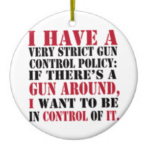 Gun Control Policy Double-Sided Ceramic Round Christmas Ornament