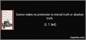 More E. T. Bell Quotes