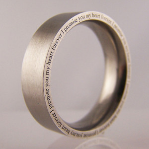 ... on edge 'i promise you my heart forever' wedding band or promise ring