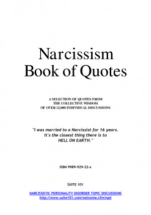 Narcissism Book of Quotes by samvaknin