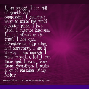 am enough i am full of sparkle and compassion i genuinely want to ...