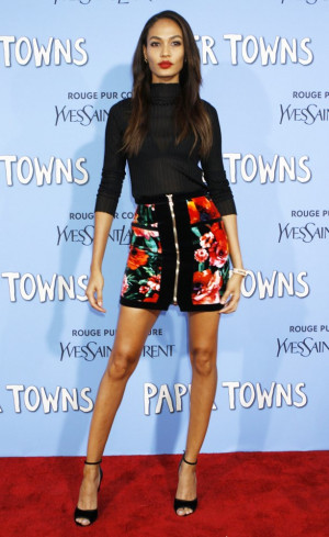 Joan Smalls Picture 51 New York Premiere of Paper Towns Red Carpet