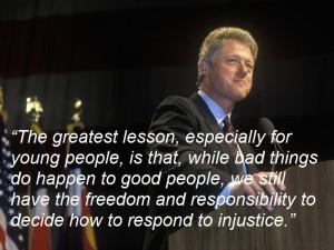 Former US President Bill Clinton, on Nelson Mandela's legacy.