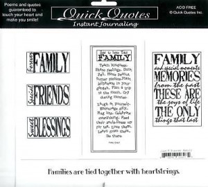 Details about 2 FAMILY/ CHRISTMAS VELLUM QUADS/QUICK QUOTES/ QUAD8&13