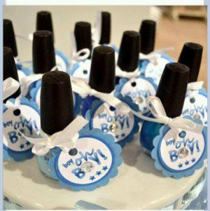 Baby Shower Idea! Use pink or blue nail polish and add tags with the ...