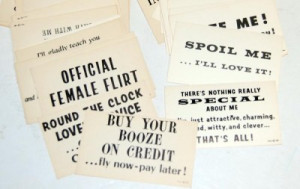 ... about 130 VINTAGE 1960's INSULT Calling Cards FUNNY QUOTES Jokes