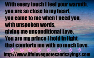 Quotes About Unconditional Love Album: That With Every Touch I Feel ...