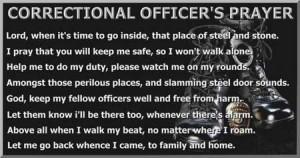 Correctional Officer's Prayer