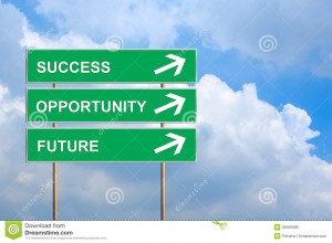 ... Free Stock Photos: Success, Opportunity and future on green road sign