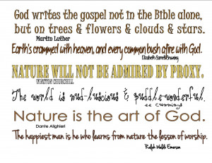 Nature Is The Art Of God Quote